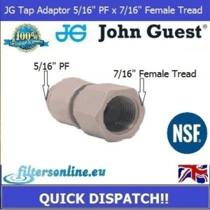 "Water Tap connector adapter 5/16"" PF x 7/16"" BSP John Guest"