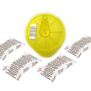 Tassimo Cleaning Service Disc + 4 Descaling Tablets 611632, 617771, 576836, 621101 Yellow