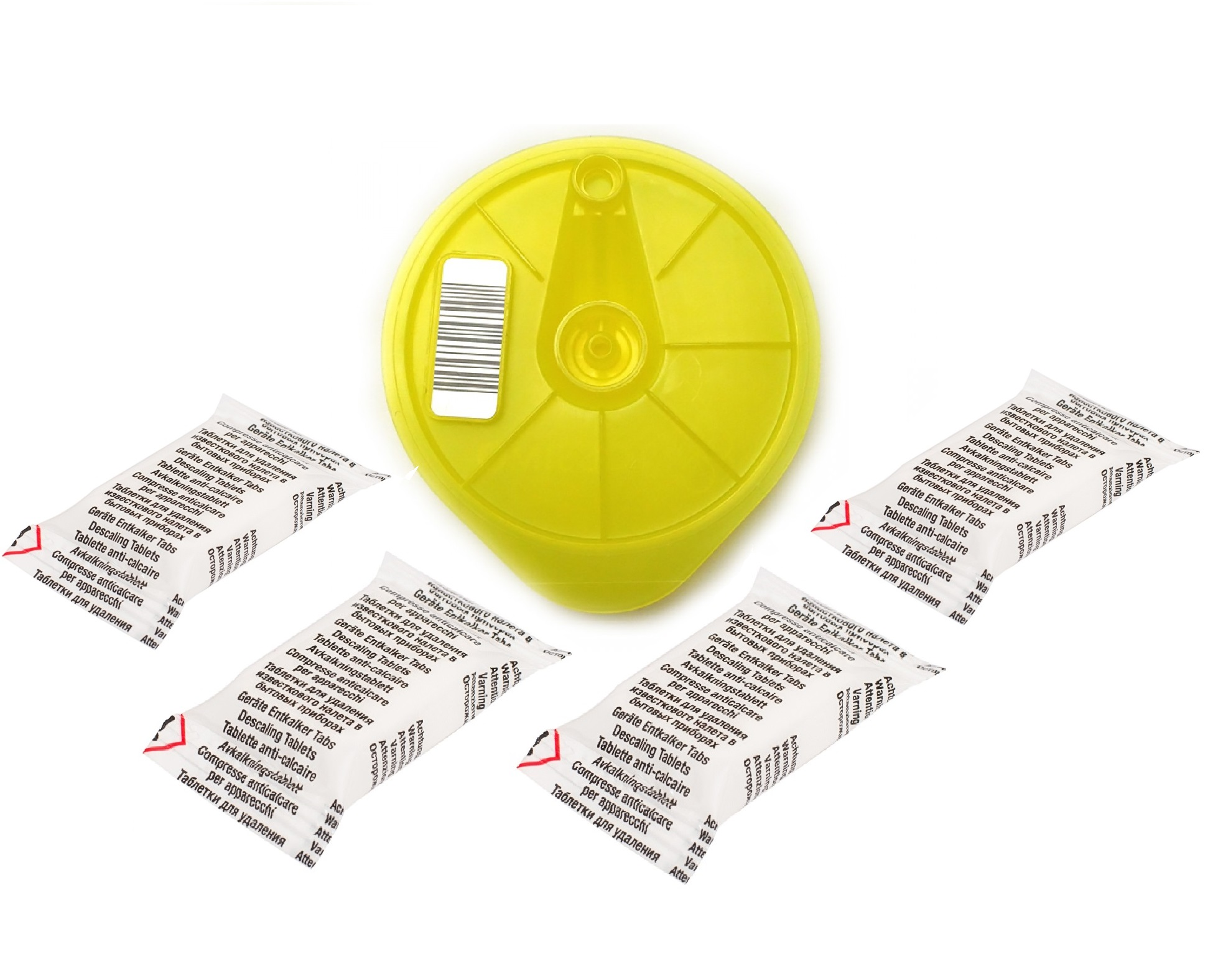 Tassimo Cleaning Service Disc 4 Descaling Tablets 611632 617771 576836 621101 Yellow