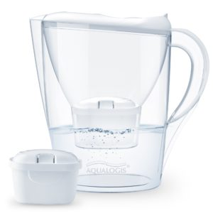 Aqualogis Harmony Pure+ 2.6L Water Filter Table Jug with 1 Free Cartridge, White